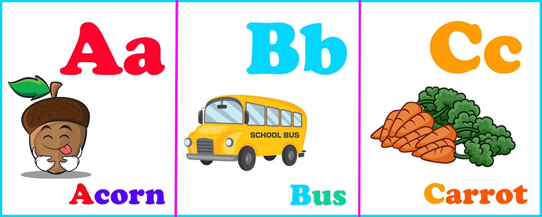 Карточки английского алфавита для детей от A до Z.