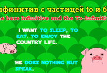 Инфинитив с частицей to и без. The bare Infinitive and the To-Infinitive.