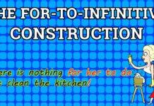 For-to-infinitive конструкция в английском языке функции, примеры, таблица.
