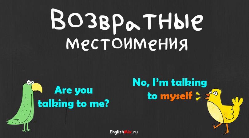 Возвратные и усилительные местоимения в английском.